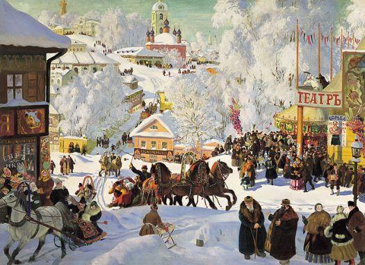 Maslenitsa, Boris Kustodiev, 1919, Isak Brodskymuseet, St. Petersburg