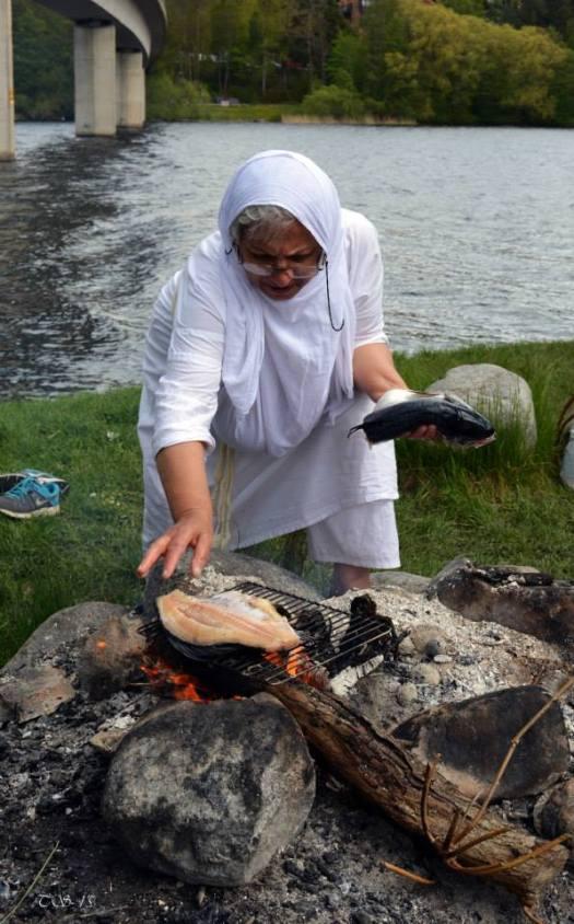 kvinna grill